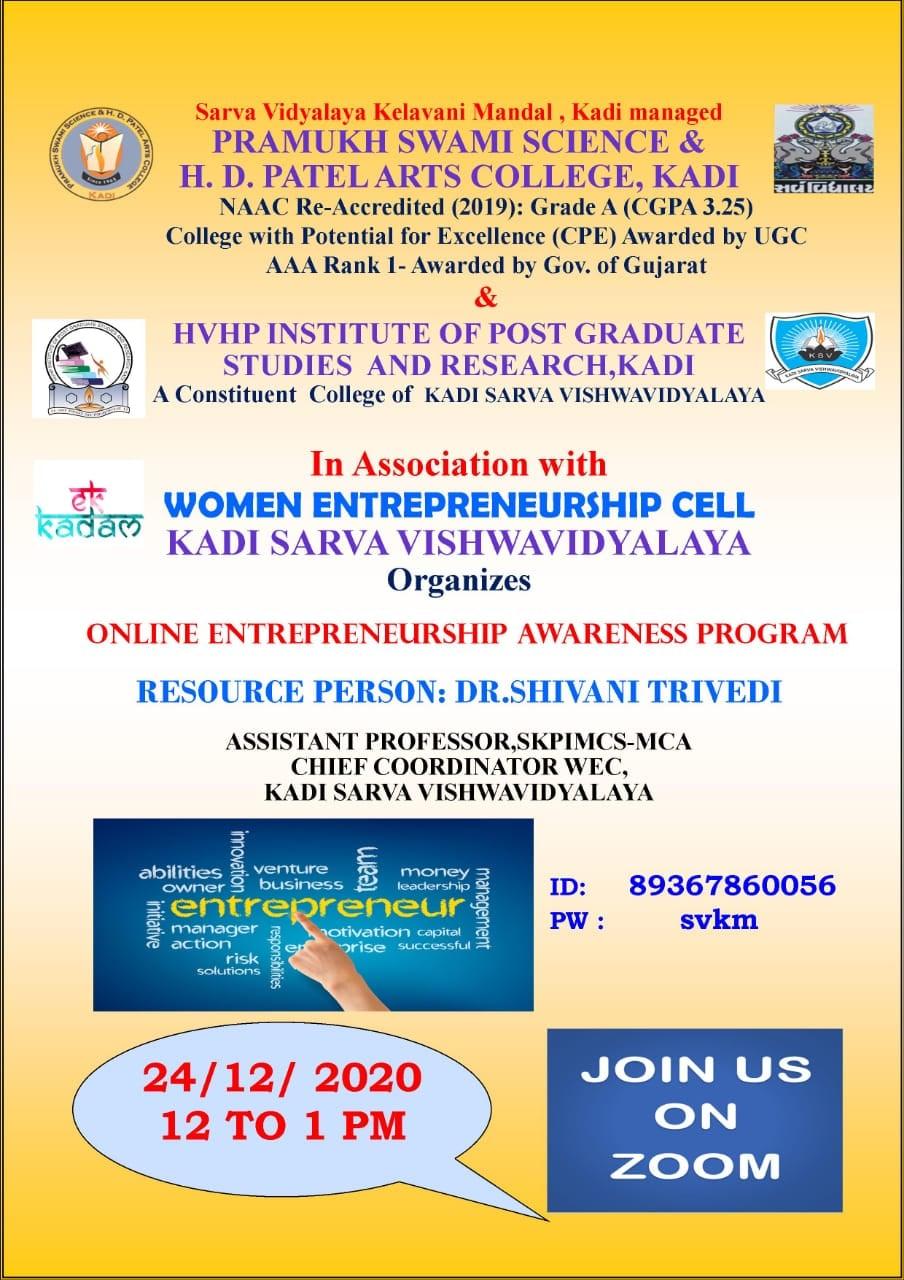 Online Entrepreneurship Awareness Program
