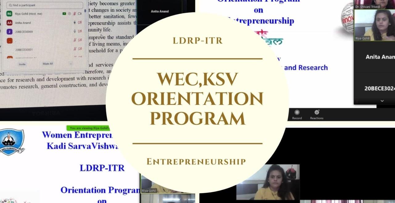 LDRP-ITR WEC-KSV Orientation program