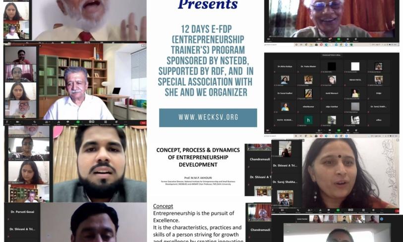 12-day E-FDP(Entrepreneurship Trainer's)